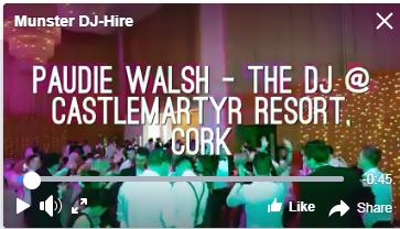 Best Wedding DJ in Cork – Paudie Walsh @ Castlemartyr Resort
