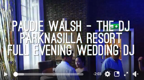 Full Night Wedding DJ – Paudie Walsh @ Parknasilla Resort, Co. Kerry