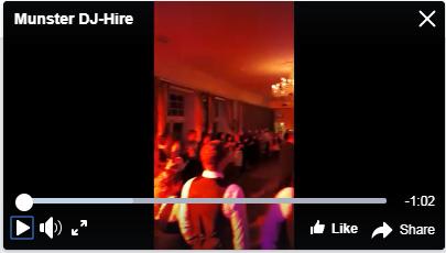Full Night Wedding DJ – Paudie Walsh @ Kilcoran Lodge, Co. Tipperary
