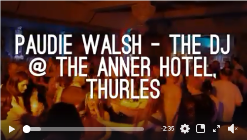 Tipperary Wedding DJ – Paudie Walsh @ The Anner Hotel, Thurles