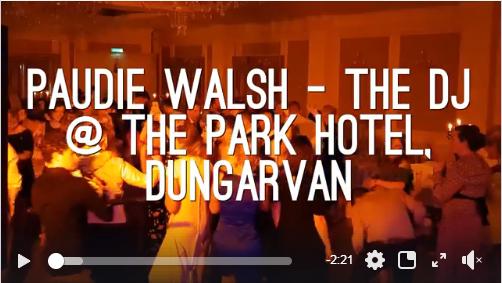 Waterford Wedding DJ – Paudie Walsh @ The Park Hotel, Dungarvan