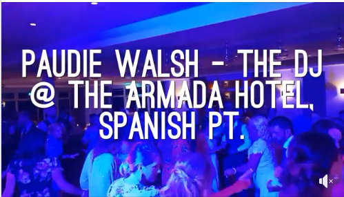Wedding DJ in Clare – Paudie Walsh @ The Armada Hotel, Spanish Pt.