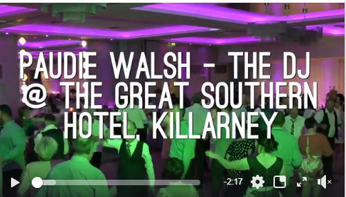 Wedding DJ Killarney – Paudie Walsh @ The Great Southern Hotel, Kerry