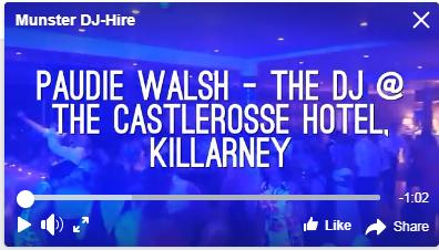 Wedding DJs in Kerry – Paudie Walsh @ The Castlerosse Hotel, Killarney